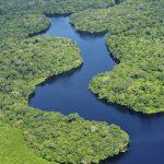 Paisaje en drone del Amazonas