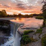 Atardecer en las cataratas de Iguazú