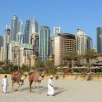 Desierto de Dubái y ciudad