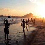 Playa de Copacabana y cerro de Río de Janeiro