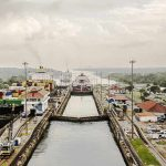 Panorámica del canal de Panamá